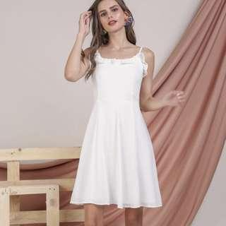 🚚 TTR Diane Ruffles Dress (White)