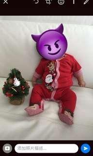 聖誕嬰兒連身衣(3m)新舊如圖