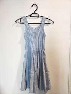🚚 Baby Blue Pleats Dress