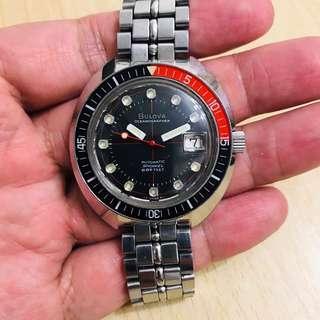 Vintage Bulova Oceanographer Automatic Snorkel Diver 666 feets