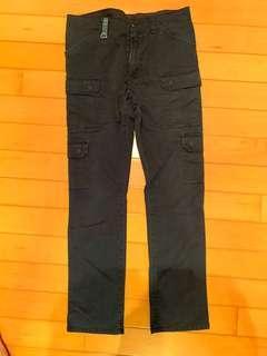 Uniform experiment UE 8 pockets slim fit cargo pants navy