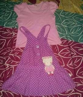 Dress Anak satu set