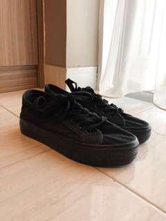 New Look Black Platform Sneakers Shoes