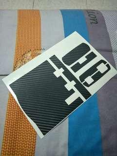 Iu sticker with carbon fibber