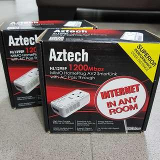 Aztech Homeplug HL129EP (One Pair)