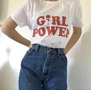[instocks] feminist girl power retro top