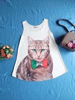 Baju Kucing top atasan wanita