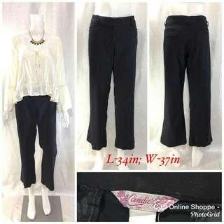 Quality black cropped pants by Candie's