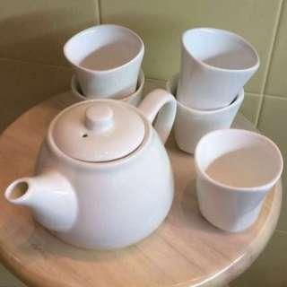 🚚 Teapot + 5 Tea Cups ☕️ Set