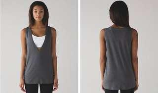 Lululemon Deep Cove Muscle Tank (Grey Size 4 CAN)