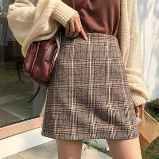 [PO] Plus size Checkered Skirt w/ safety shorts