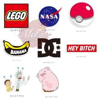 Luggage Sticker Tumblr Sticker • LEGO NASA Pokemon Ball Banana DC DCSHOECOUSA Hey Bitch Rick and Morty Gravity Falls Pig The Time Traveler's Pig