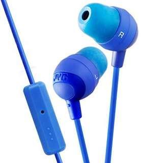 JVC Marshmallow HA-FR37 Blue Ear Headphone