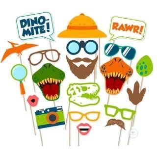 Dinosaur theme Photobooth Party Props Birthday