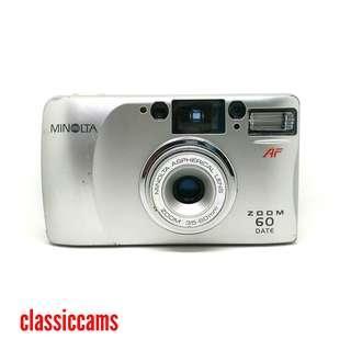 Minolta Zoom 60 Date 35mm Film Camera