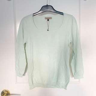 NEW Proportion mint thin knit Size S