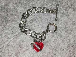 Juicy couture heart gems bracelet