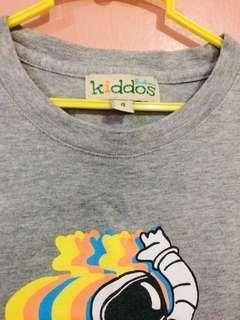 Gray Astronaut  Kids shirt