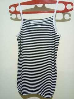 Tanktop Stripe Hitam-Putih
