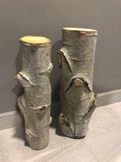 Decorative Birch wood logs (real wood)