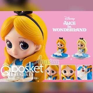 🌟全新日本正版景品 迪士尼 Disney公主系列 Disney Princess Alice 愛麗絲 愛麗絲夢遊仙境 愛麗絲公仔  迪士尼公主 愛麗絲figure Alicefigure(全兩種兩色)