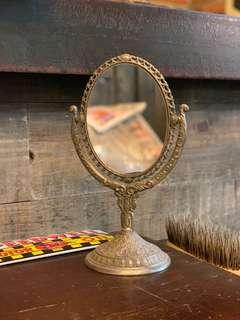 Vintage Small tabletop vanity mirror