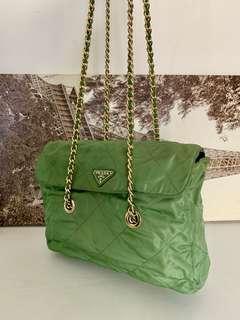 少有綠色Vintage Prada 斜背/單肩袋 chanel