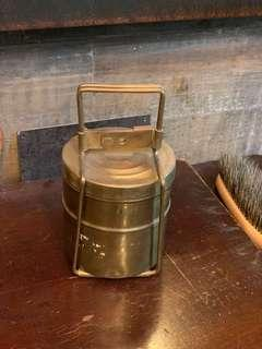 Antique Vintage Brass Lunch box