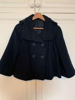 Navy melton jacket