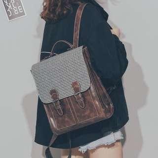 🚚 Mono-coloured Korean Style Buckle Flipped School Girl Backpack
