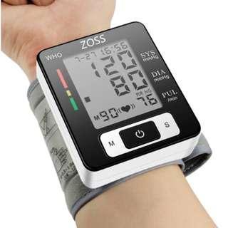 ZOSS English Voice Cuff Wrist Sphygmomanometer Blood Presure Meter Monitor Heart Rate Pulse Portable Tonometer BP
