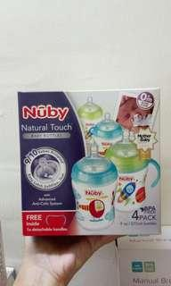 nuby natural touch 9oz 4pcs free handle
