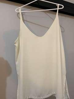 White cami (fits 10-14)