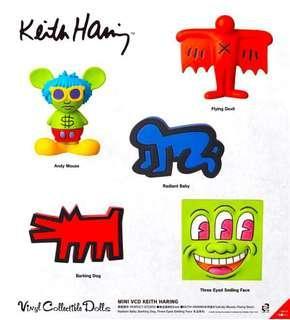 🚚 Keith Haring mini vcd Vinyl Collectibles Dolls Set A B C