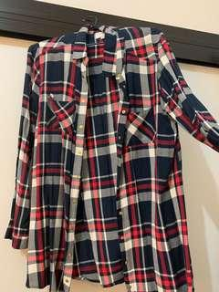 Flannel-style shirt (fits 10-14)