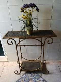 Wrought iron display table