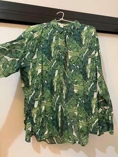 Tropical button-up (fits 10-14)