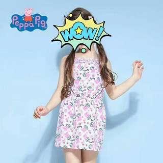 童裝peppa Pig 佩佩豬 夏天 連身裙 裙 短裙