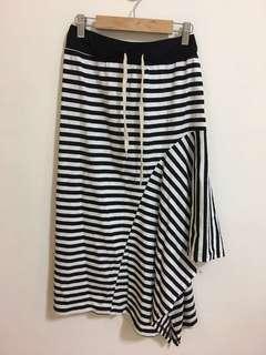 🚚 條紋不規則裙