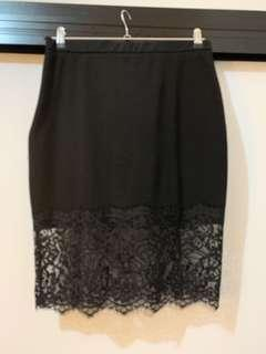 Black lace midi skirt (fits 12-14)