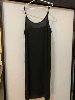 Black slip dress (fits 10-14)