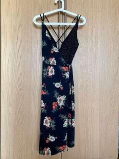 Topshop strap floral dress