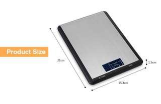 10000g / 1g Digital Multifunctional Electronic Kitchen Scale (SILVER)