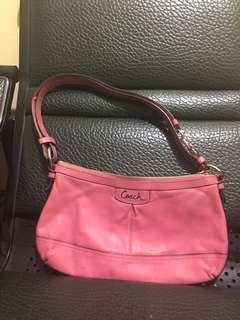 Coach two way bag in carnation pink