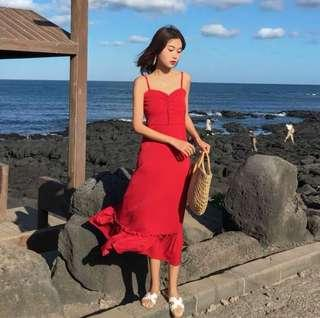 BNIB Red midi Dress