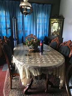 Teak dining with 6 chairs