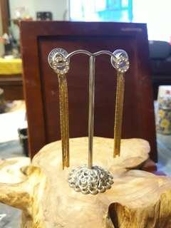 🚚 金色流蘇耳環