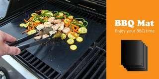 Non-stick BBQ Mat Heat-resistant Grilling Sheet (BLACK)
