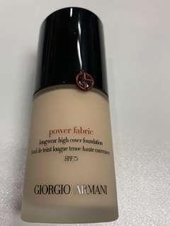 全新Giorgio Armani Power Fabric Foundation#3.25 色原價$540