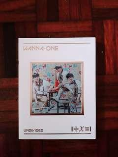 WANNA ONE 'UNDIVIDED' (Triple Position Ver)